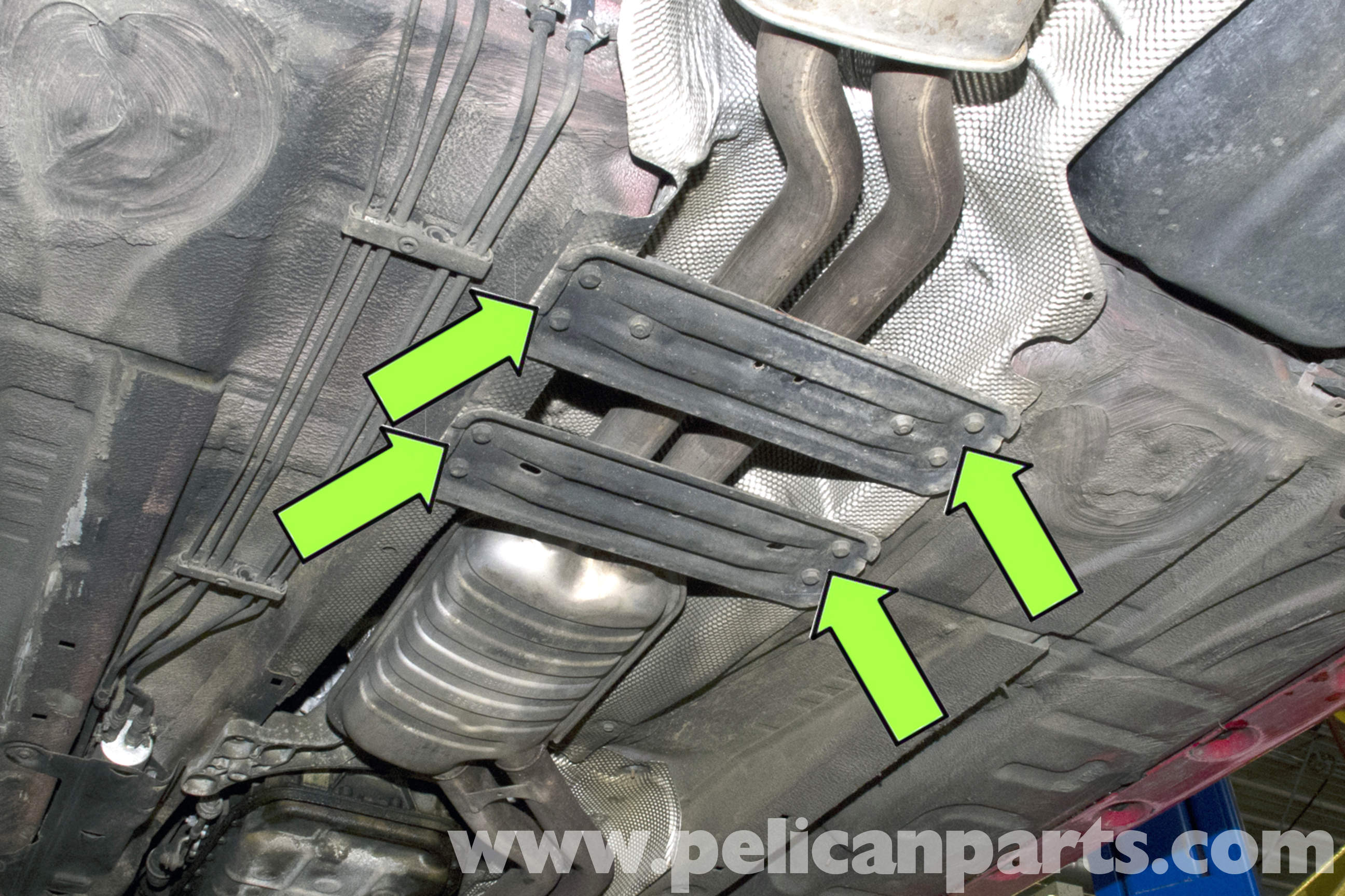 bmw e46 exhaust system removal bmw 325i 2001 2005 bmw 325xi 2001 2005 bmw 325ci 2001 2006 bmw 325ti 2001 2004 pelican parts technical article