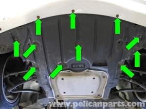 BMW E90 Engine and Transmission Splash Sheild Removal | E91, E92, E93 | Pelican Parts DIY