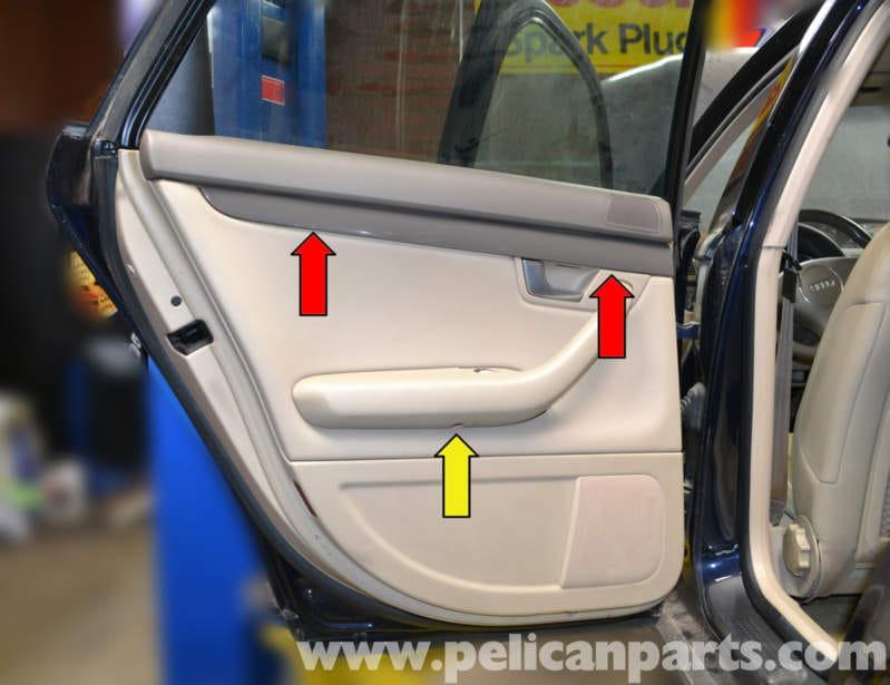 Audi A4 B6 Rear Door Panel Removal 2002 2008 Pelican