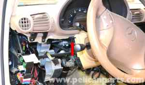 MercedesBenz W203 Lower Driver Side Dash Removal  (2001