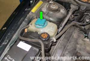 Volvo V70 Coolant Expansion Tank Replacement (19982007)  Pelican Parts DIY Maintenance Article