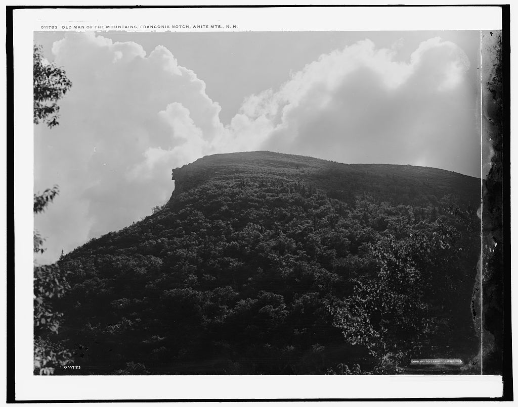 But on may 3, 2003, the old man of the mountain collapsed. Old Man Of The Mountains I E Mountain Franconia Notch White Mts N H Picryl Public Domain Search