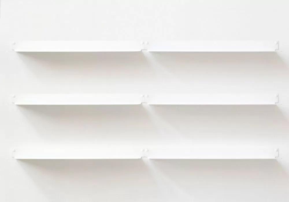 etagere murale design blanc invisible et en metal 60 cm lot de 6
