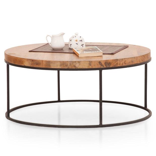 fargo round coffee table metal legs