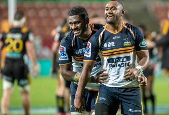 Isi Naisarani during his time with the Brumbies