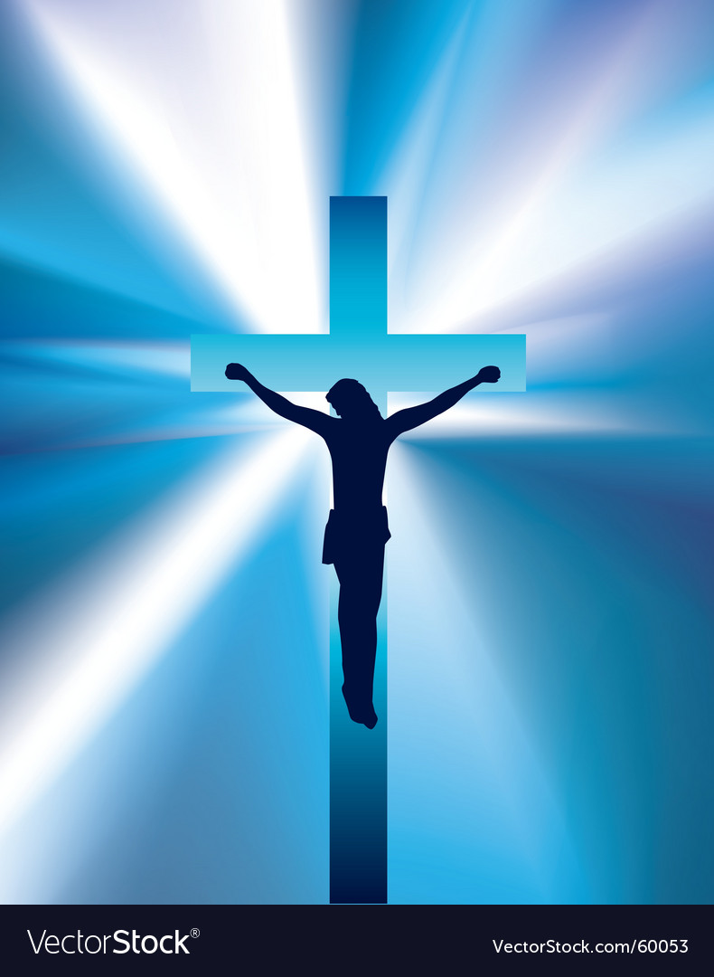 Jesus On Cross Royalty Free Vector Image Vectorstock