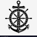 Ship Wheel And Anchor Royalty Free Vector Image