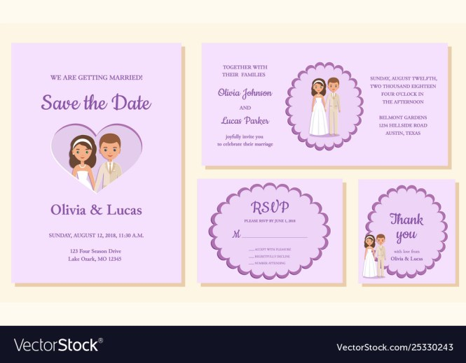 Wedding Invitation Templates Greeting Cards
