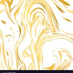 White And Gold Marble Texture Background Liquid Vector Image