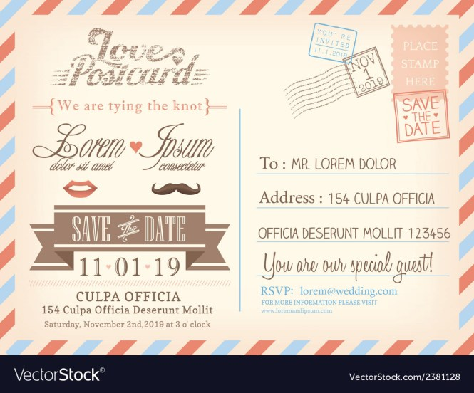 Postcard Wedding Background Vector Image