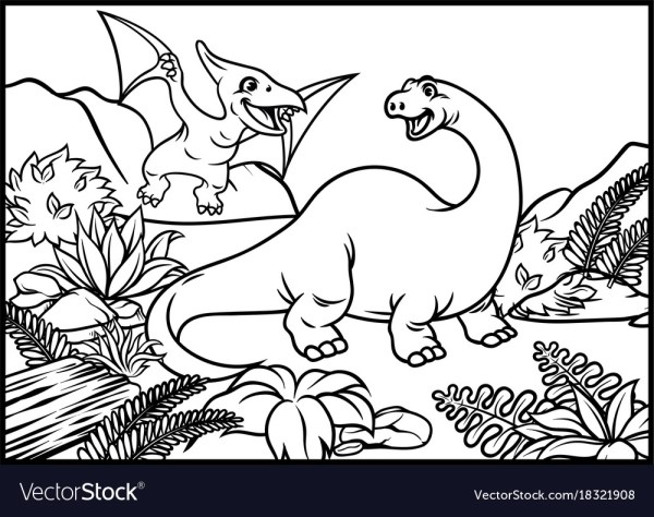 pterodactyl coloring page # 46