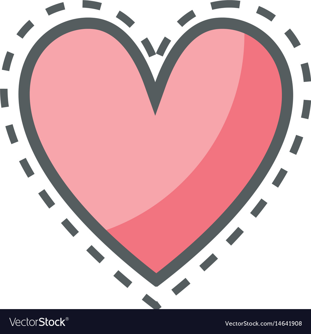 Download Pink cute heart love icon Royalty Free Vector Image