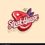 Steak House Logo Butchery Shop Restaurant Vector Image