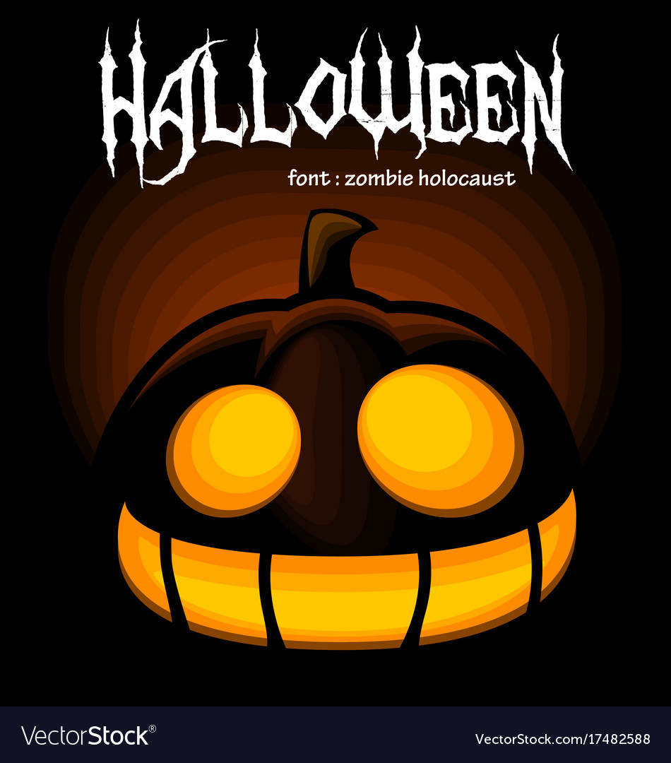 Watch this funny cartoon for kids with. Cartoon Halloween Pumpkin Scary Laugh Silhouette Vector Image