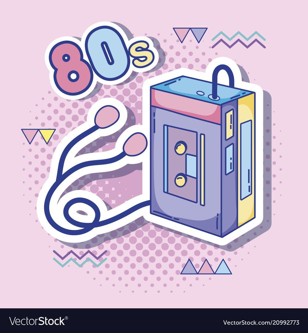 Download I love 80s cartoons Royalty Free Vector Image - VectorStock