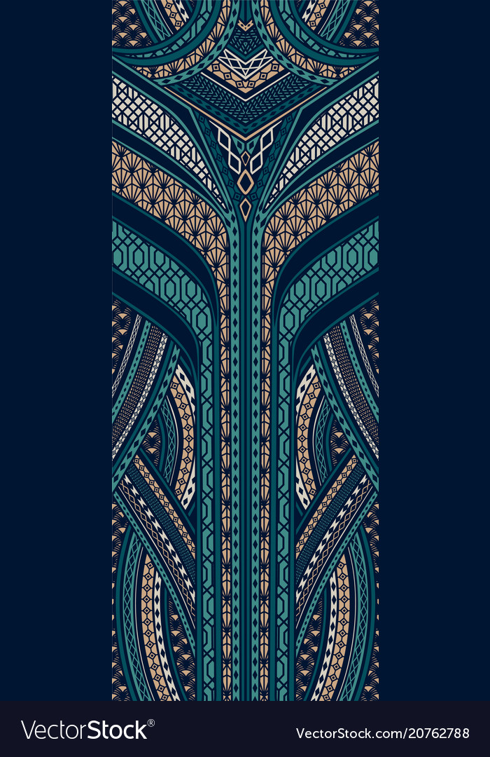 Pattern In Art Deco Style Royalty Free Vector Image