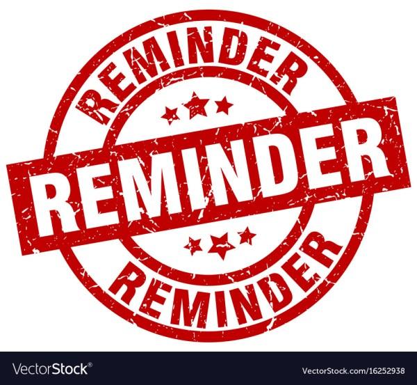 Reminder round red grunge stamp Royalty Free Vector Image
