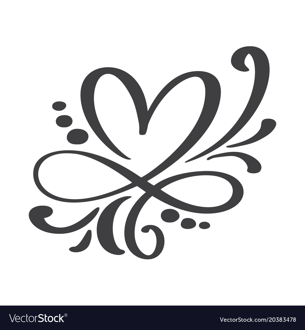 Download Heart love sign forever infinity romantic symbol Vector Image