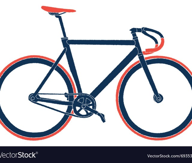 Fixed Gear Bicycle Vector Image