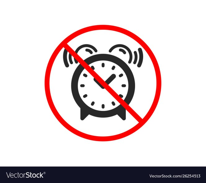 Alarm Clock Icon Time Sign Royalty Free