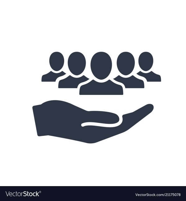 Service offer - community service - minimal icon Vector Image