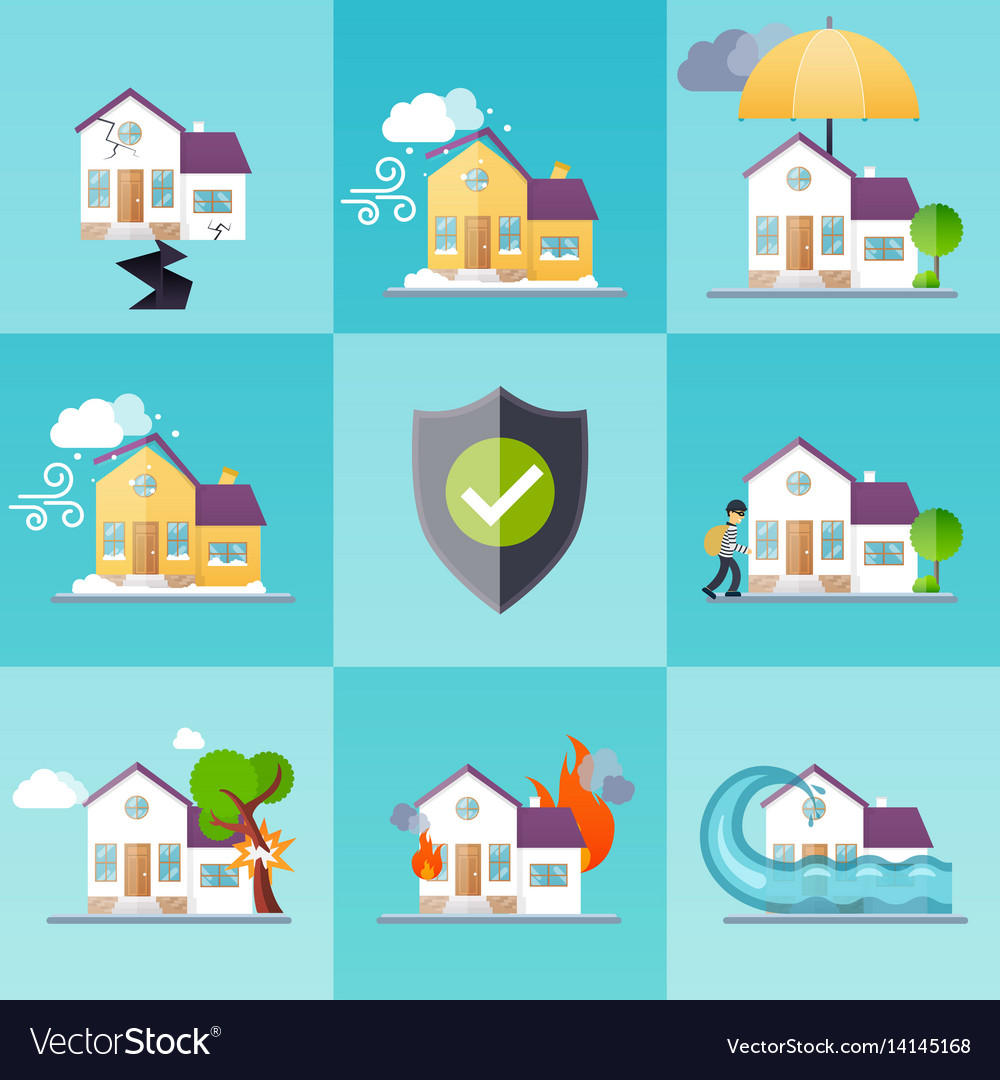 You can gather information like type of … House Insurance Business Service Icons Template Vector Image
