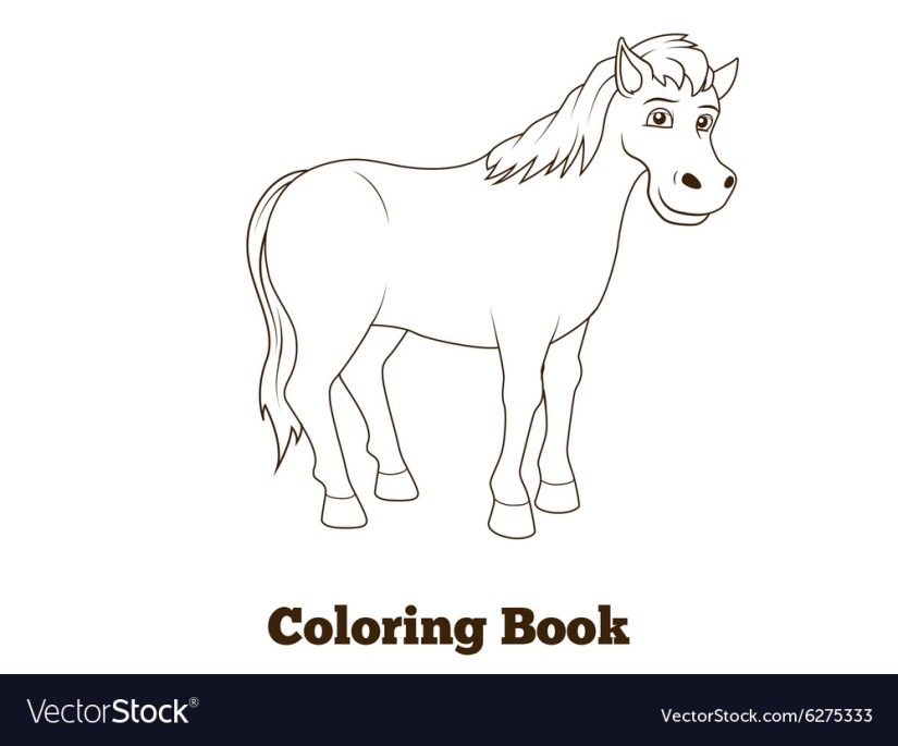 coloring book horse cartoon