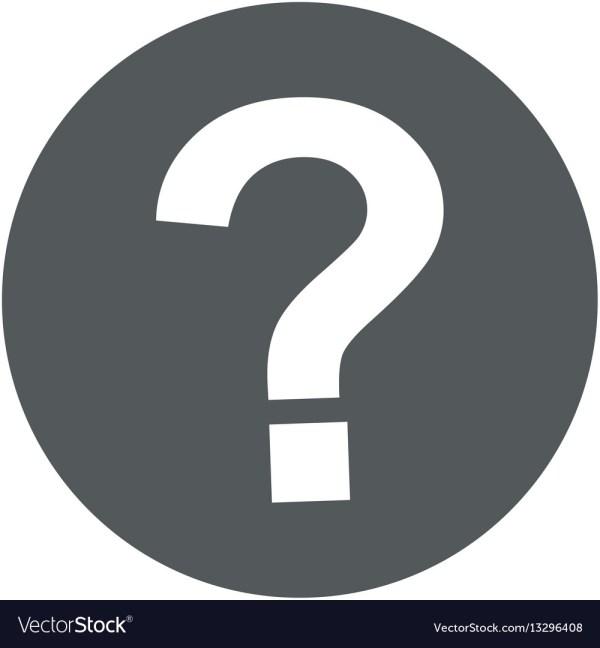 Question mark symbol icon Royalty Free Vector Image