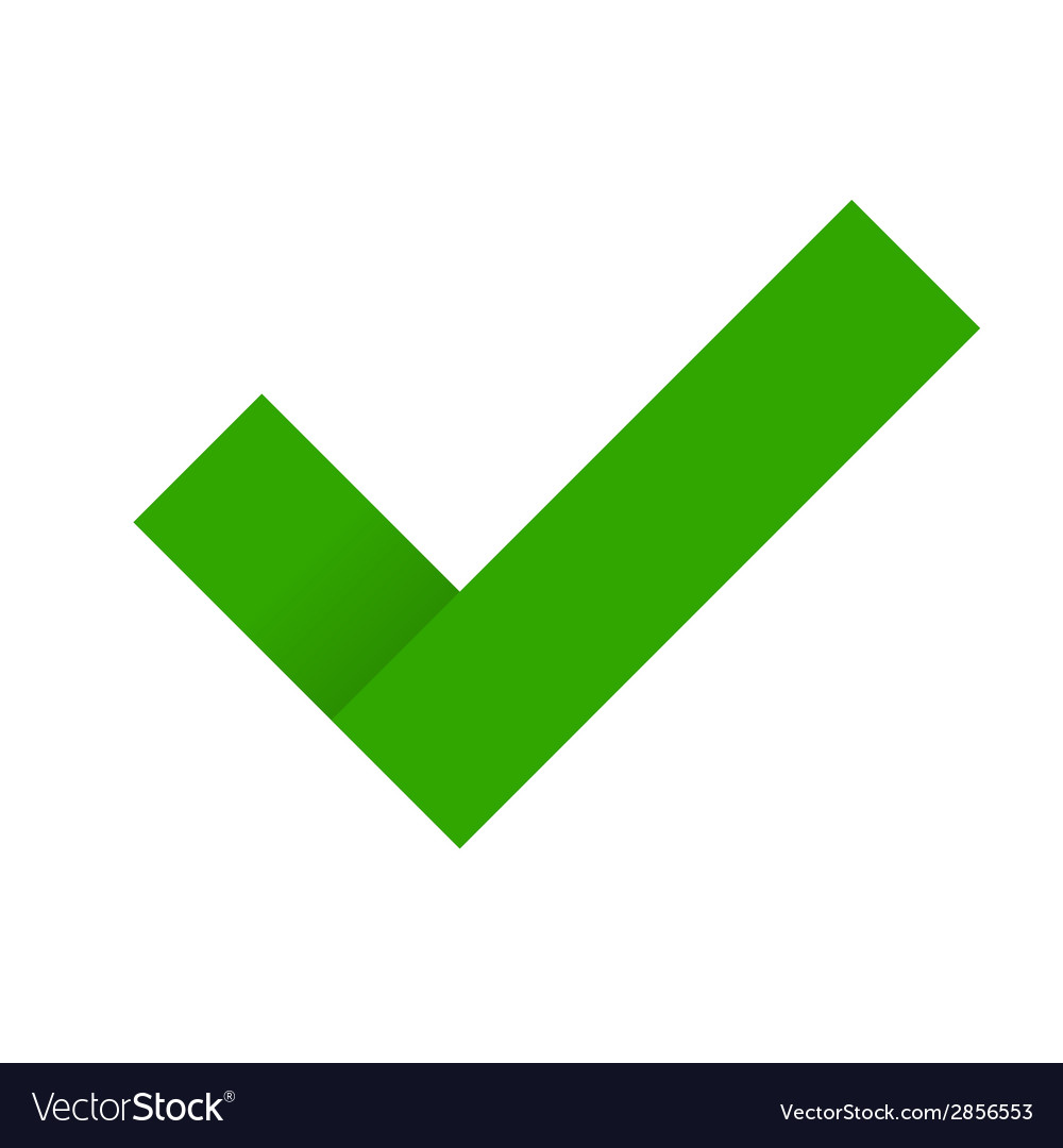 Green Check Mark Royalty Free Vector Image - VectorStock on ✔  id=52764