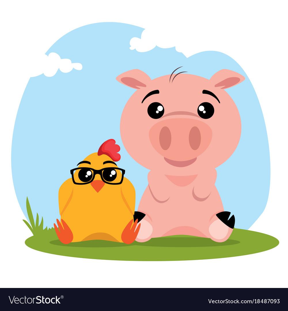 Cute Animals Cartoon Royalty Free Vector Image