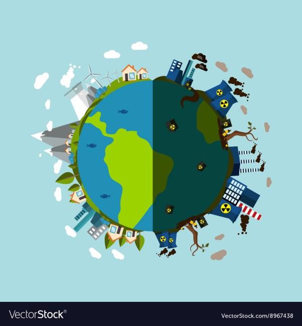 Environmental Pollution Poster Royalty Free Vector Image