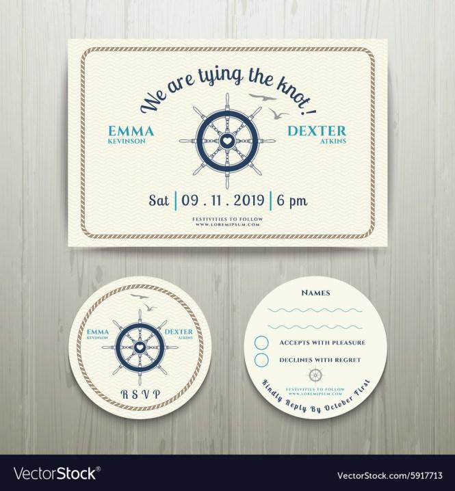 Knot Wedding Invitation Vector Image