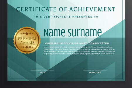 Modern award certificate template design in Vector Image