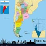 Argentina Map Cordoba Vector Images 55