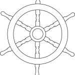 Ship Wheel Outline Drawings Royalty Free Vector Image