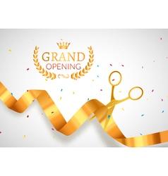 opening ceremony invitation card vector