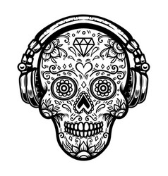 Candy Skull Vector Images Over 4 800