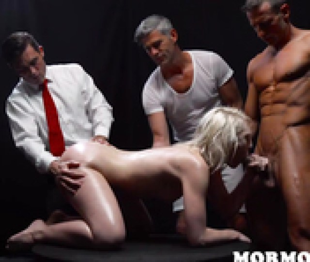 Outstanding Mormon Sex Of Three Men And A Slender Young Blonde