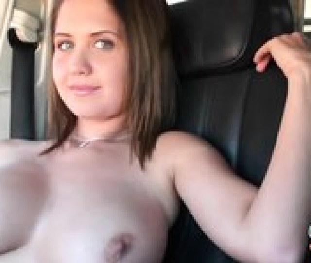Cutest Slutty Teen Cassie Young Undresses Right In The Car