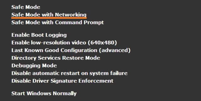 Abgesicherter Modus - Erweiterte Startoptionen - Mit Netzwerk - WindowsWally