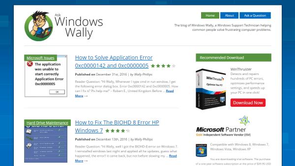 Проблемы с компьютером - WindowsWally Facebook - Обложка - Windows Wally