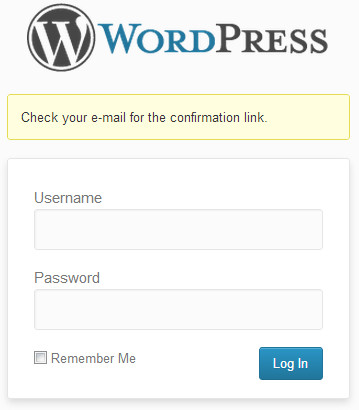 WordPress Password Reset Email Sent