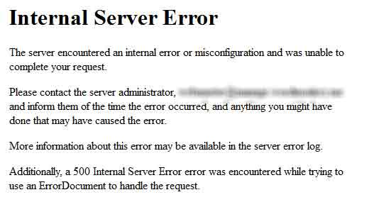 Internal Server Error in WordPress Fix the Internal Server Error in WordPress