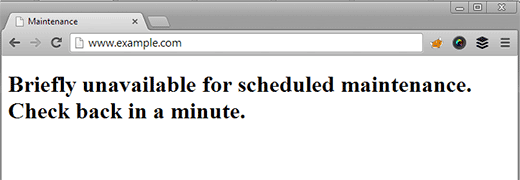 """Image result for """"Briefly unavailable for scheduled maintenance""""? Check back in a minute""""?"""