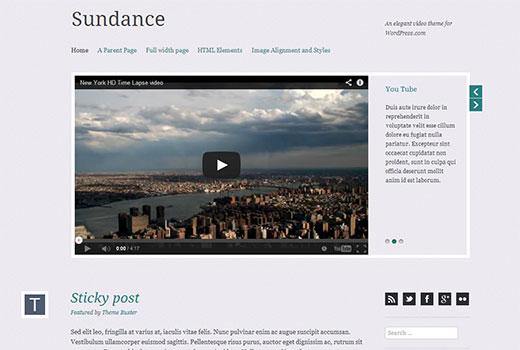 Sundance - Free WordPress Video Theme