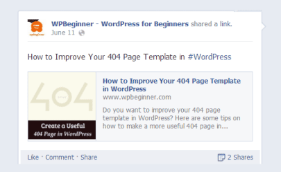 WPBeginner tips to fix blog image not showing on Facebook