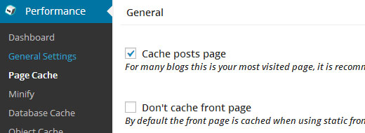 W3 Total Cache - Front Page
