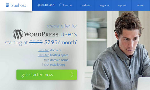 Bluehost 2.95 Special