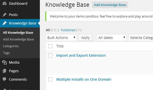 Knowledge Base Admin
