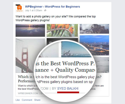 Facebook Author Tag Demo